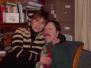 Fred Kreuser with his sister Kathy.