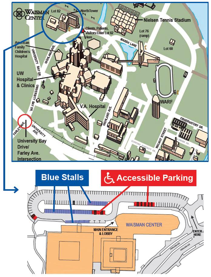 Parking Map Waisman Center Uw Madison